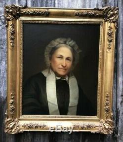 Superbe Tableau Ancien Portrait XIXe Quadro Antico Antique Painting