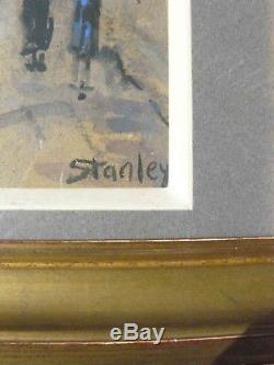 Superbe Tableau ancien Butte Montmartre école de Paris signé Stanley
