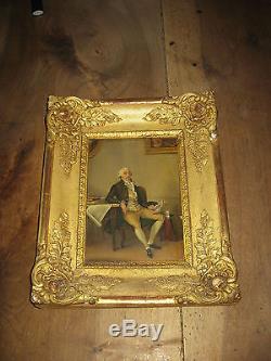 Superbe tableau ancien cadre doré Margueritte Gérard daté 1841 signé Fabre
