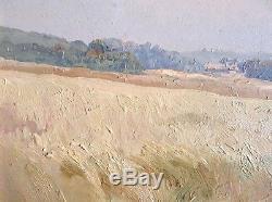 Superbe tableau impressionniste 1913 Leroux Fécamp Ecole de Rouen Ancien Galerie