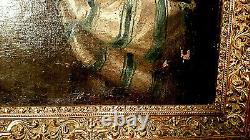 TABLEAU ANCIEN D'ÉPOQUE XVIIIème PORTRAIT HUILE SUR TOILE