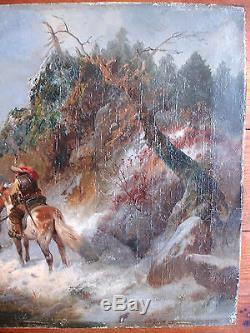 TABLEAU ANCIEN Ecole ALLEMANDE PAR MENO MUHLIG(1823-1873)