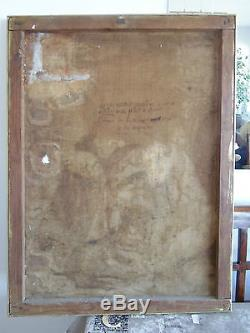 TABLEAU ANCIEN HST 18e ECOLE FRANCAISE PORTRAIT LOUIS AIMABLE GIRARD SIGNE