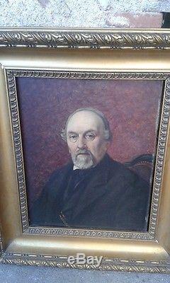 Tableau Ancien Huile Sur Bois Paire Portraits Impressioniste Couple Renoir