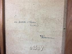 Tableau Ancien / Huile Sur Toile De André Beronneau Les Sables D'olonne