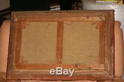 Tableau Ancien Peinture A L Huile Sur Toile Marine Bord De Mer Cote D Azure