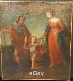 TABLEAU ANCIEN RELIGIEUX XVIIème SIECLE HUILE SUR TOILE