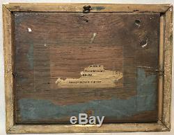 TABLEAU / PEINTURE ANCIENNE DEBUT 19 eme HUILE SUR PANNEAU BOIS PAYSAGE