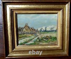 Tableau Ancien André PREVOT VALERI 1890-1955 Post impressionniste Normandie