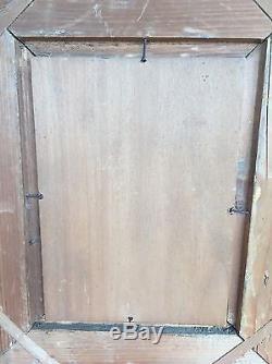 Tableau Ancien Barbizon Huile Sur Panneau Lavandière Paysage Anim Fontainebleau