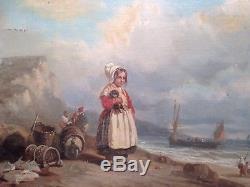 Tableau Ancien Ecole Francaise XIXe dans le gout de Lacroix de Marseille Marine