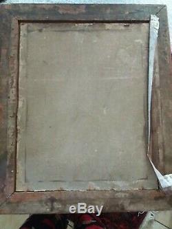 Tableau Ancien HST Angelot, d'apres Fragonard, boucher, A restaurer