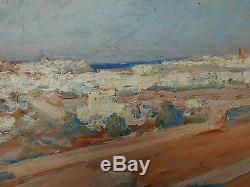 Tableau Ancien Huile Paysage Orientaliste Algérie ou Maroc JEAN PATRICOT 1900