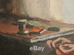 Tableau Ancien Huile Portrait Femme Couturière MAURICE ASSELIN (1882-1947)