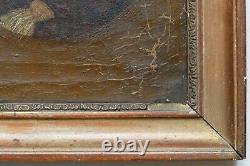 Tableau Ancien Huile Portrait Jeune Fille XIXe à restaurer, signé Charpentier