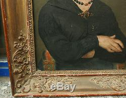 Tableau Ancien Huile Romantique Portrait Femme XIXe 1840/50 George Sand