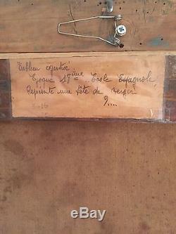Tableau Ancien Huile ST École Flamand Du 18 ieme Siècle Ou 17 Ieme Siècle