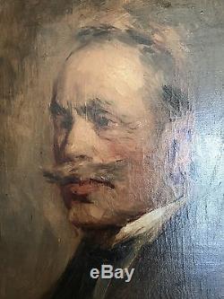 Tableau Ancien Huile Sur Toile Jean LAUDY (1877-1956) autoportrait
