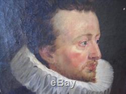 Tableau Ancien Huile Sur Toile Portrait D Homme