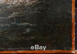 Tableau Ancien Huile XVIIIe Triomphe de Galatée Nus Feminins Marine Mythologie