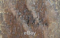 Tableau Ancien Huile sur bois Vanité Saint en Prière XVII, XVIIIe Crâne Sablier