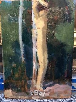 Tableau Ancien LOUIS BILLOTEY (1883-1940) Étude Saint-Sébastien Art Déco c. 1920