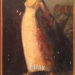 Tableau Ancien Manière de GOYA Huile sur Toile Danseuse Impressionniste Signé