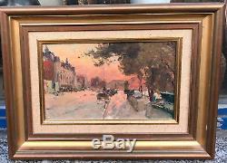 Tableau Ancien Maurice DAINVILLE (1856-1943) Quai dOrsay Paris Pochade c. 1900