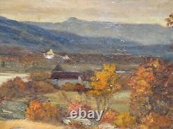 Tableau Ancien Paysage Automne Montagne Joanny ARLIN 1830-1906 Lyon