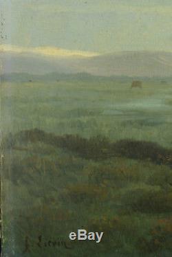 Tableau Ancien Paysage aux Vaches Cow Montagne Liévin GALIEN-LALOUE XIXe hst