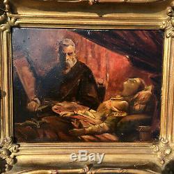 Tableau Ancien Peinture HSP Charles Cousin 1807-1887 French Antique Painting 19c