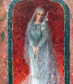 Tableau Ancien Portrait Portrait Sainte Claire 1891 Tancrède BASTET Grenoble