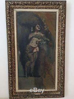 Tableau Ancien René Morere École De Paris Museable Circa 1940 Nu Cabaret