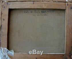 Tableau Ancien Vue Paris Ile de de la Cité signé Belle touche 21 x 26 cms