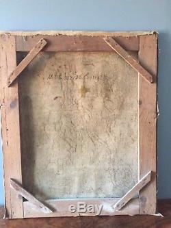 Tableau Ancien XVIII Em Les Larmes De Saint Pierre Huile Sur Toile Religion