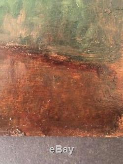 Tableau Ancien fin XIXème Impressionniste Le Ruisseau Dans le gout Alfred SISLEY