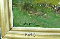 Tableau Ancien paysage Normandie Impressionniste Signé Morisot Edma Berthe Corot