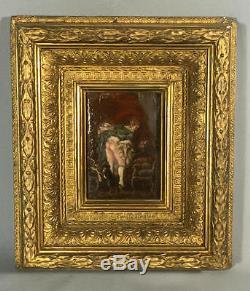 Tableau Ancien/peinture Sur Bois (la Toilette Intime) Pierre Antoine Baudoin