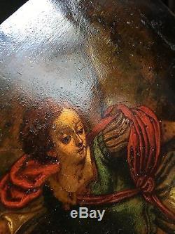Tableau HUILE sur Cuivre XVIIe / XVIIIe Peinture Ancienne. A Voir