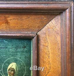 Tableau Icone Ancienne Grecque saint Christ Suaire + cadre ronce