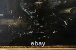 Tableau Peinture Ancienne Huile XVIIème Peruzzini, Magnasco Marine, Bateau