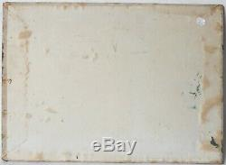 Tableau Peinture Ancienne Huile signé POUZET, Marine, Bateaux, Bord de Mer
