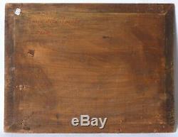 Tableau Peinture Ancienne Huile signé, Paysage, Venise, Bateaux
