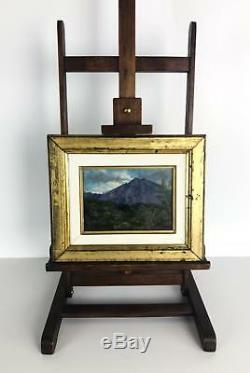 Tableau / Peinture Ancienne Sur Panneau Encadrée (menton Au Couché) 29 CM X 24