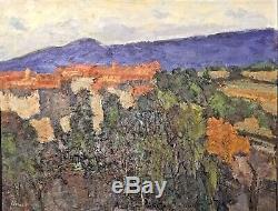 Tableau Peinture Cadre 20èm XXèm Cornellier Paysage Ecole Provençale Rare ancien
