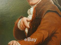 Tableau Portrait Ancien Portrait d'homme Moqueur au Chapeau XVIIIe Revolution