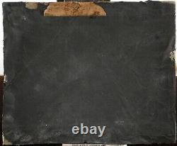 Tableau ancien, 1864, Jeune femme, Nu symboliste aux cygne, Monogramme