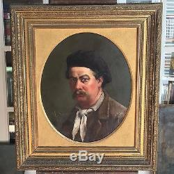 Tableau ancien Auto portrait