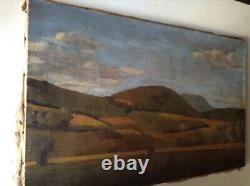 Tableau ancien Beau Paysage des Vosges Huile sur Toile signée Jean Hess c1940