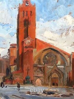 Tableau ancien, Cathédrale Saint Etienne à Toulouse peint par Jean Dufour